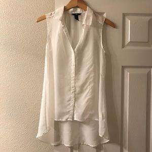 H&M sleeveless sheer button up